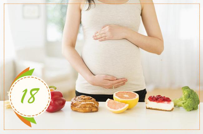 питание на восемнадцатой неделе беременности