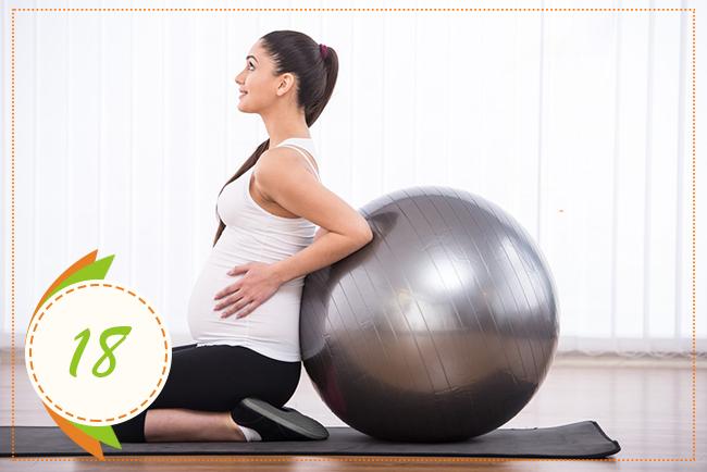 зарядка на восемнадцатой неделе беременности