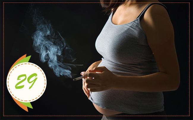 курение на 29 неделе беременности