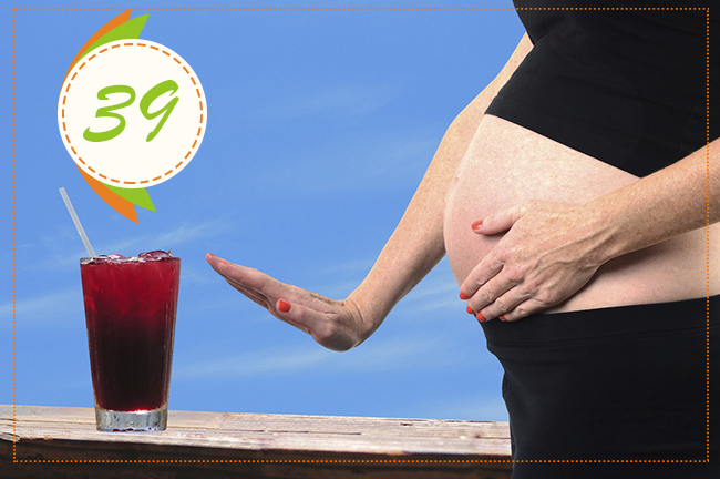 алкоголь на 39 неделе беременности