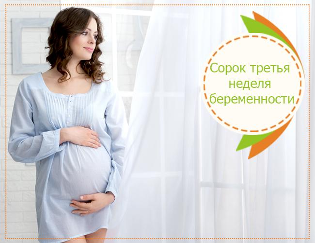 сорок третья неделя беременности