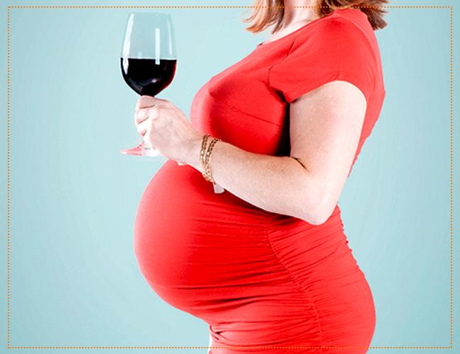 вино при беременности красное
